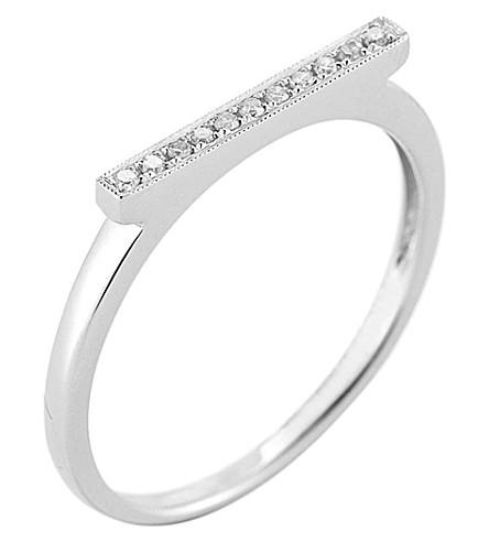 THE ALKEMISTRY Dana Rebecca diamond bar 14ct white-gold ring (White+gold
