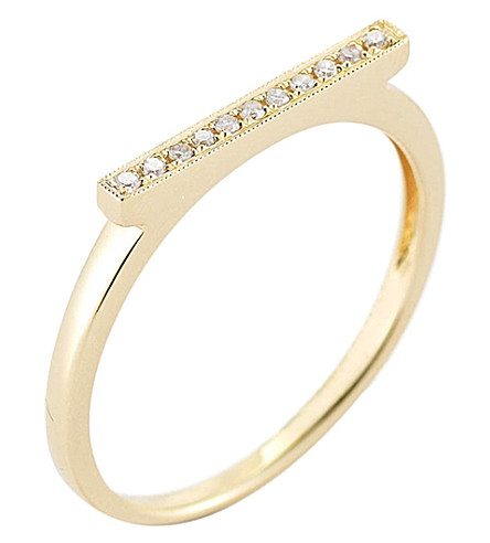 THE ALKEMISTRY Diamond Bar 14ct yellow-gold ring (Yellow+gold