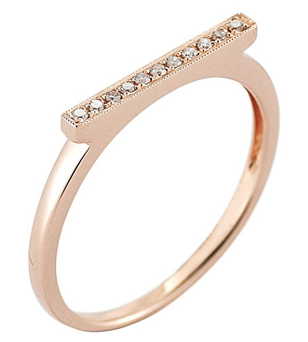 THE ALKEMISTRY Dana Rebecca diamond bar 14ct rose-gold ring (Rose+gold