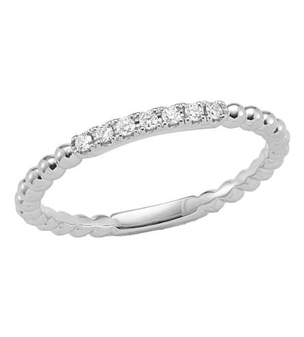 THE ALKEMISTRY Dana Rebecca diamond band 14ct white-gold ring (White+gold