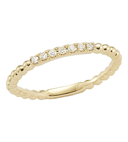 THE ALKEMISTRY Dana Rebecca diamond band 14ct yellow-gold ring (Yellow+gold