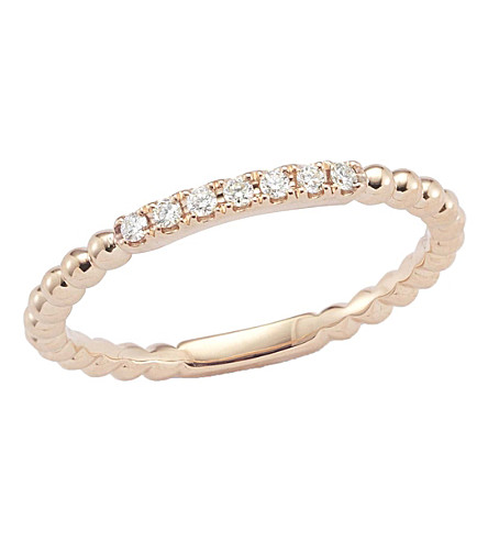 THE ALKEMISTRY Dana Rebecca diamond band 14ct rose-gold ring (Rose+gold