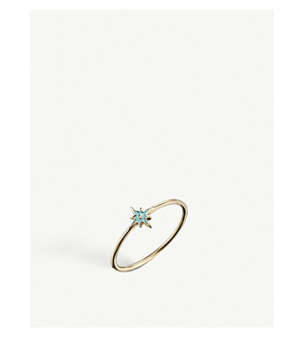 THE ALKEMISTRY Sydney Evan Starburst 14ct yellow-gold enamel ring (Rose+gold