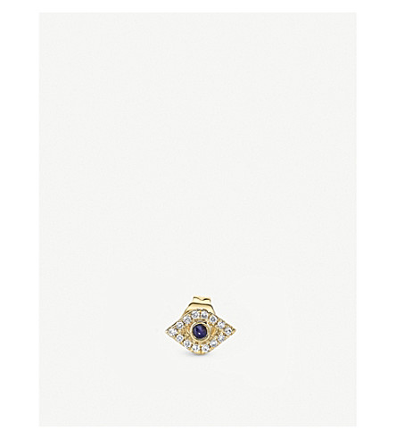 THE ALKEMISTRY Sydney Evan eye 14ct yellow-gold and diamond earring (Yellow+gold