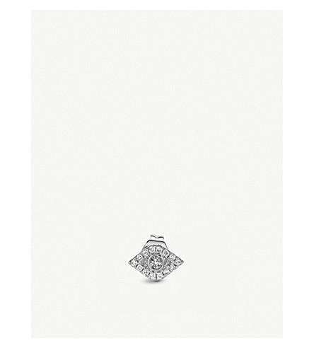 THE ALKEMISTRY Sydney Evan 14ct white-gold and diamond earring (White+gold