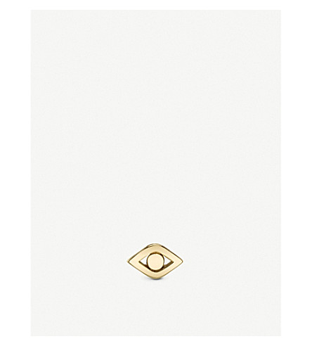 THE ALKEMISTRY Sydney Evan Pure Evil 14ct yellow-gold stud earring (Yellow+gold