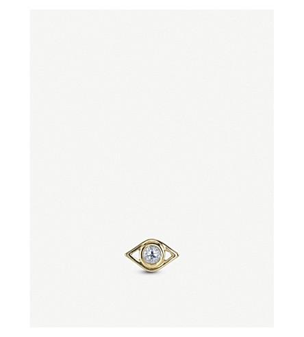 THE ALKEMISTRY Sydney Evan Evil Eye 14ct yellow-gold stud earring (Yellow+gold