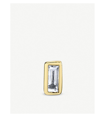 THE ALKEMISTRY Sydney Evan 14ct yellow-gold stud earring (Yellow+gold