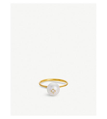 THE ALKEMISTRY RICO by Mizuki Akoya pearl diamond star ring (Yellow