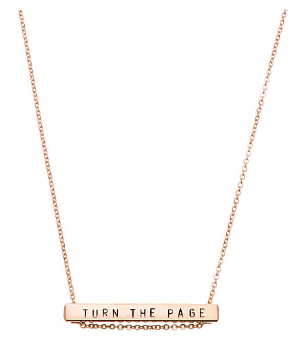 LITTLESMITH Rose-gold-plated bar necklace