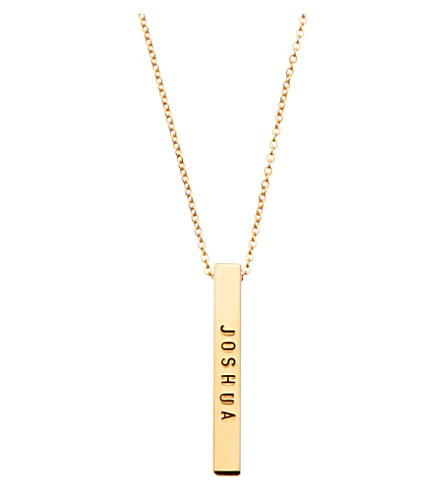 LITTLESMITH Gold-plated bar necklace 3cm