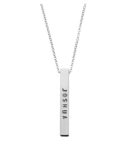 LITTLESMITH Silver-plated bar necklace 3cm