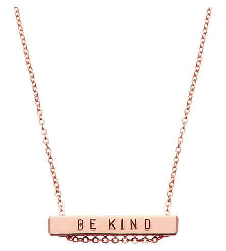 LITTLESMITH Rose gold-plated bar necklace