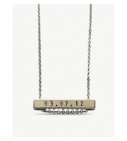 LITTLESMITH Silver-plated horizontal bar necklace