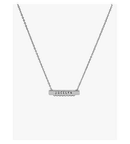 LITTLESMITH Silver-plated bar necklace