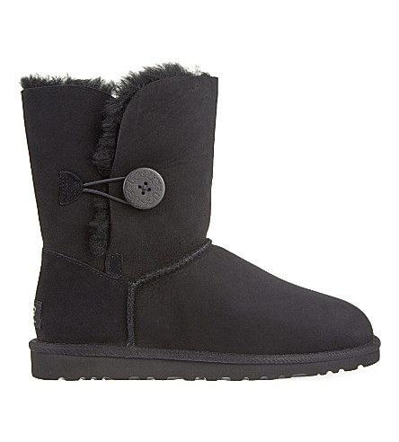 UGG Bailey Button sheepskin boots (Black