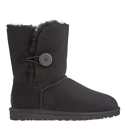 UGG Bailey Button sheepskin boots (Black