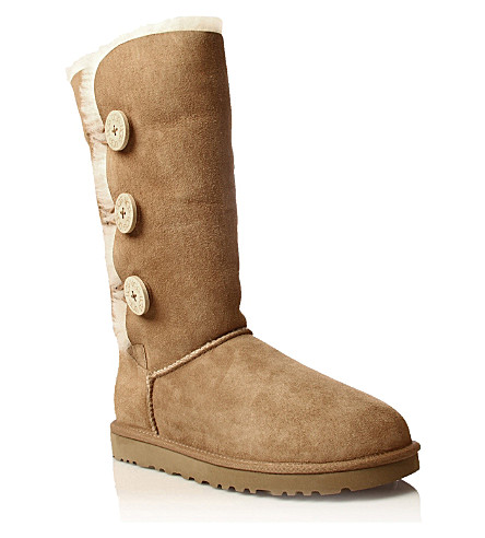 UGG Bailey Button Triplet sheepskin boots (Brown