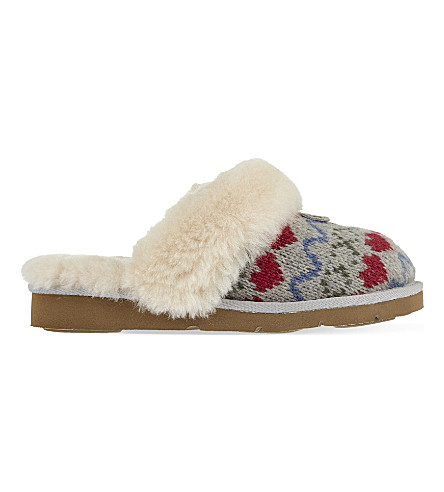 UGG Cozy knit heart slippers (Grey/other