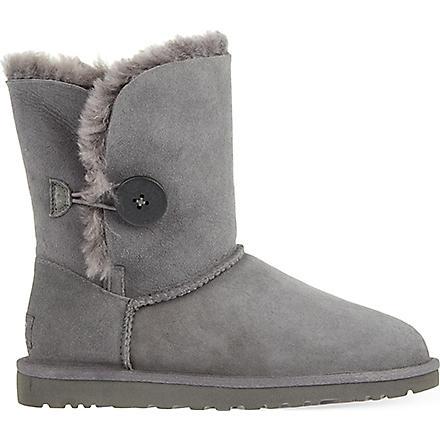 UGG Bailey Button sheepskin boots (Grey