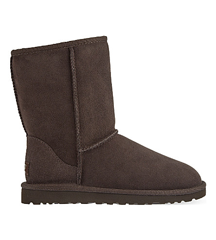 UGG Classic Short sheepskin boots (Dark+brown