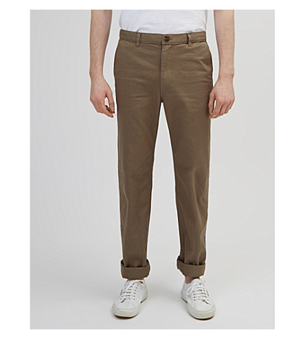 COMMUNITY CLOTHING Classic-fit cotton chinos (Khaki
