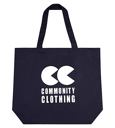 COMMUNITY CLOTHING Logo cotton tote bag (Navy