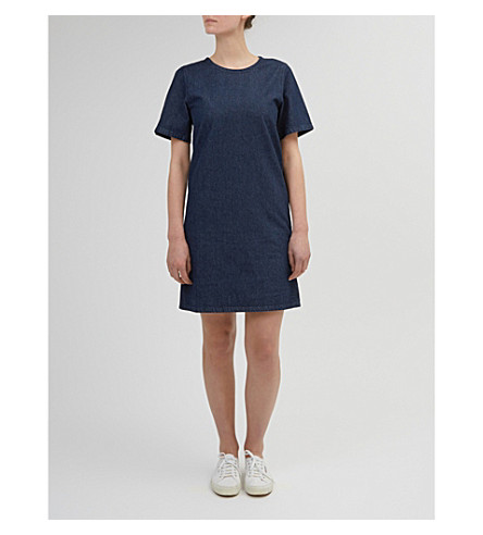 COMMUNITY CLOTHING Boxy denim smock dress (Indigo