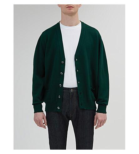 COMMUNITY CLOTHING 圆领羊毛开襟衫 (绿色