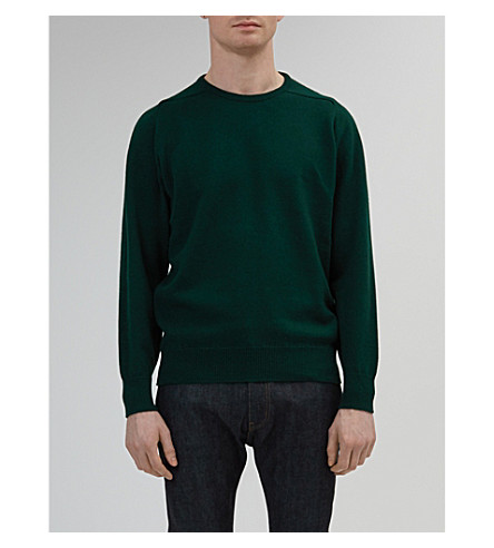 COMMUNITY CLOTHING Crewneck lambswool jumper (Green