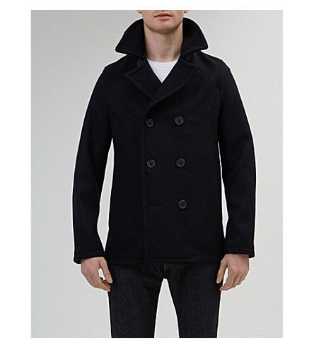 COMMUNITY CLOTHING Double-breasted wool peacoat (Navy