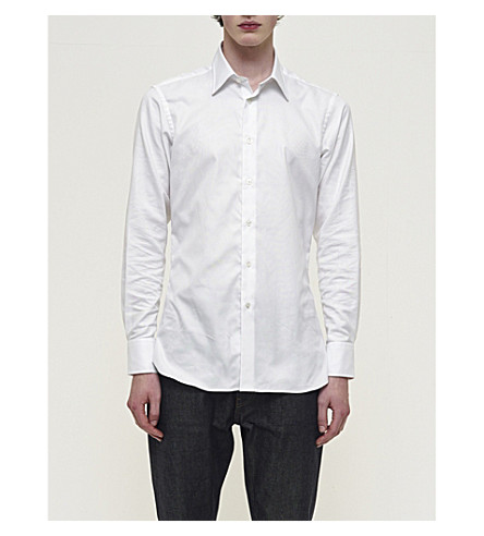 COMMUNITY CLOTHING Tailored-fit poplin shirt (White
