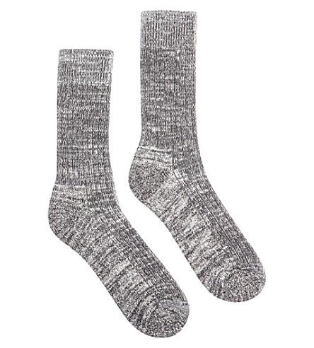 COMMUNITY CLOTHING 石灰泥-式样棉混纺袜子 (石灰泥