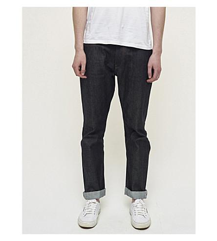 COMMUNITY CLOTHING Straight selvedge jeans (Indigo