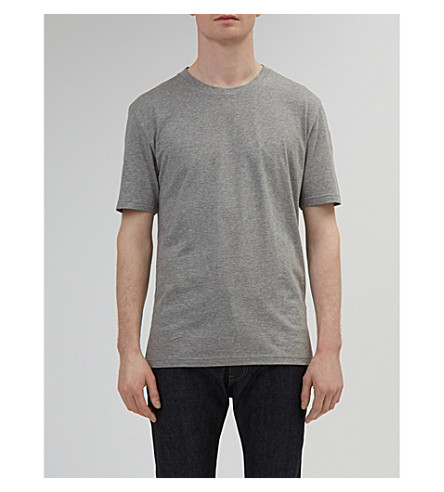 COMMUNITY CLOTHING Classic cotton-jersey T-shirt (Grey+marl
