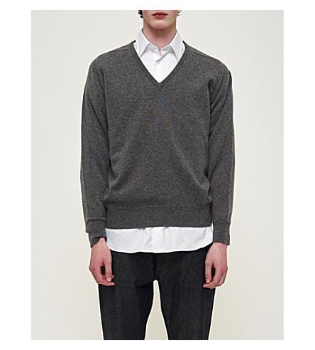 COMMUNITY CLOTHING V-neck lambswool jumper (Grey