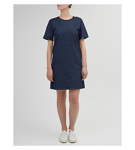 COMMUNITY CLOTHING A-line denim dress (Indigo