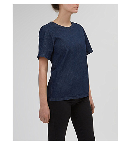 COMMUNITY CLOTHING Relaxed-fit denim top (Indigo