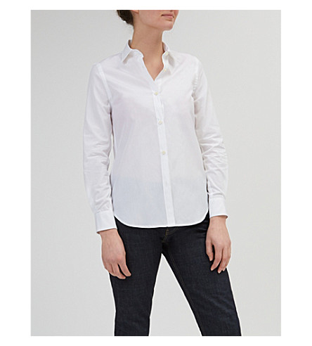 COMMUNITY CLOTHING Slim-fit cotton-poplin shirt (White