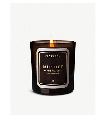 FLOWERBX FOR SELFRIDGES Muguet scented candle 180g