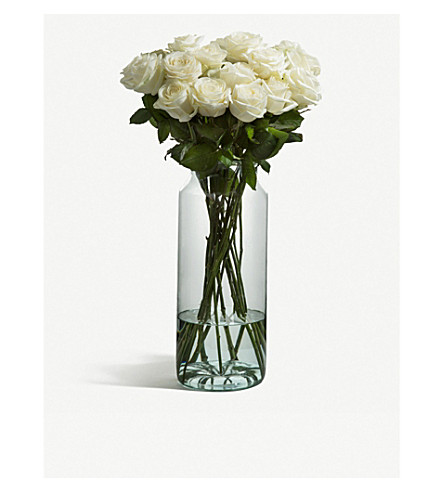 FLOWERBX FOR SELFRIDGES Roses bunch of 20 (White+naomi
