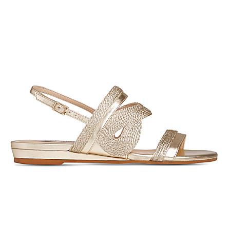 LK BENNETT Josephine metallic leather sandals (Gol-pale+gold