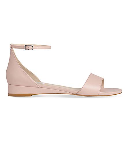 LK BENNETT Cai suede sandals (Pin-marshmallow