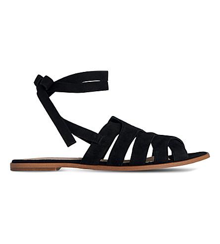 LK BENNETT Selma suede sandals (Bla-black