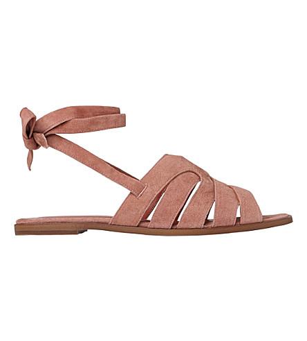 LK BENNETT Selma suede sandals (Pin-dark+pink