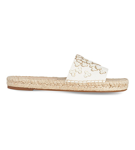 LK BENNETT Louna leather slide sandals (Cre-multi