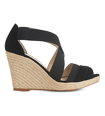LK BENNETT Alycia espadrille wedge sandals (Bla-black