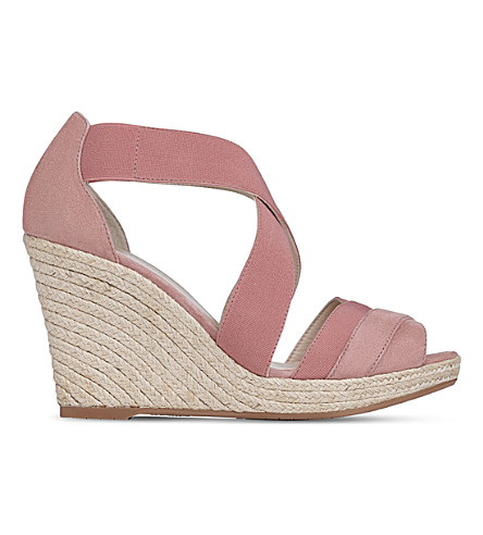 LK BENNETT Alycia espadrille wedge sandals (Pin-dark+pink