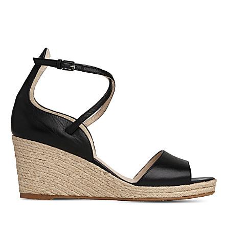 LK BENNETT Nellie leather espadrille sandals (Bla-black