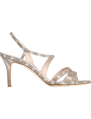 LK BENNETT Lourdes metallic leather sandals